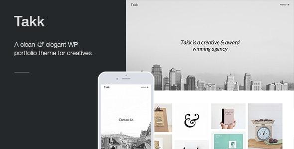 Takk: a clean and responsive WordPress portfolio theme with a fullscreen parallax background image - Portfolio Creative