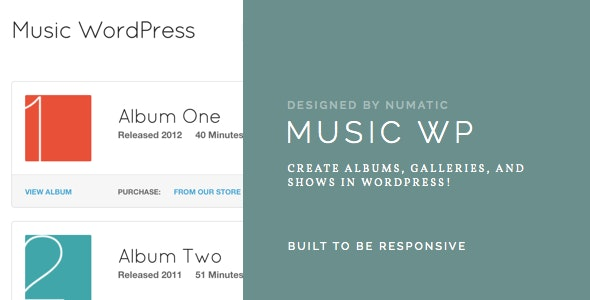 Music WordPress Template – For Musicians / Artists