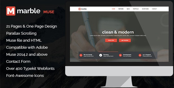 Marble - Multipurpose MUSE Template - Creative Muse Templates