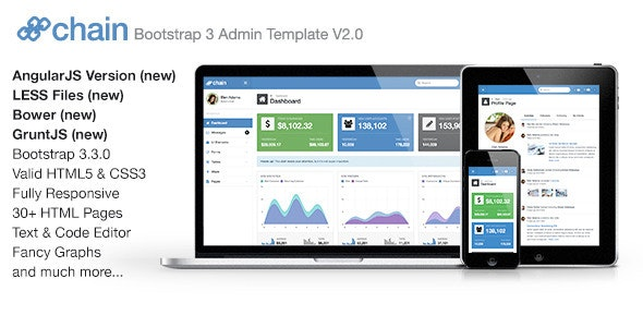 Chain Responsive Bootstrap 3 Admin Template - Admin Templates Site Templates