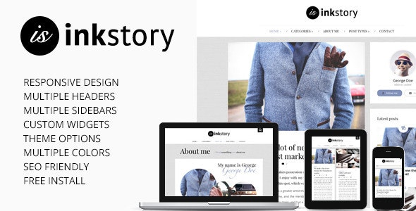 InkStory - Personal, News, Blog Wordpress Theme - Personal Blog / Magazine