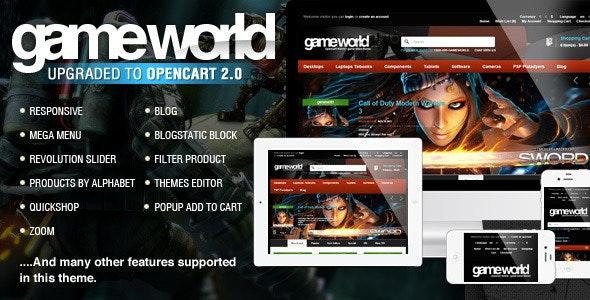 OpenCart Game Theme - GameWorld - OpenCart eCommerce