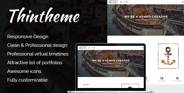Ueneo - Creative One Page Parallax Joomla Template