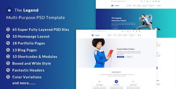 The Legend - Multi-Purpose PSD Template - Business Corporate