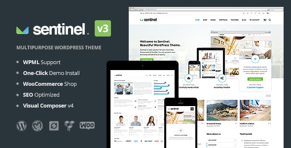 Sentinel - Responsive Multipurpose WordPress Theme - Business Corporate
