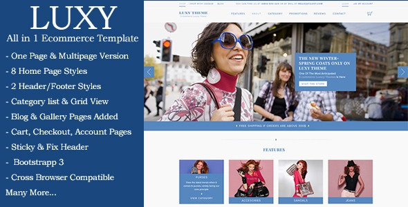 Luxy - Ecommerce HTML Template - Shopping Retail