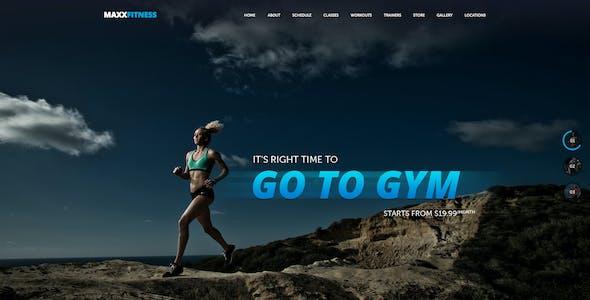 Maxx Fitness PSD Template
