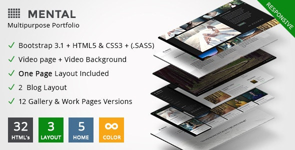 Mental — Photography HTML Template - Portfolio Creative