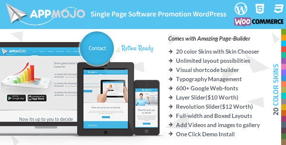 AppMojo - Software Landing Page - Marketing Corporate