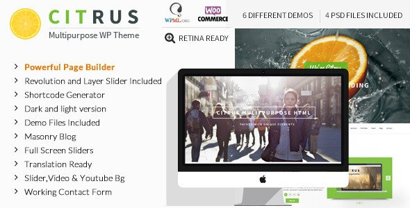 Citrus - WordPress One Page Theme - Experimental Creative