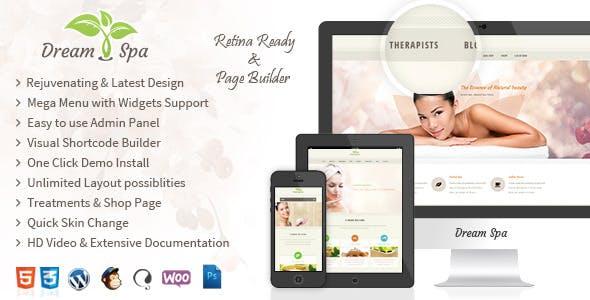 Dream Spa - WordPress Beauty Salon