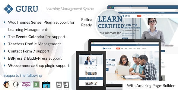 Guru | Learning Management WordPress Theme - Education WordPress