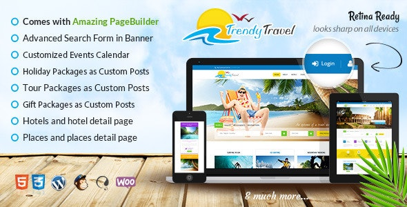 Trendy Travel Booking - Travel Retail