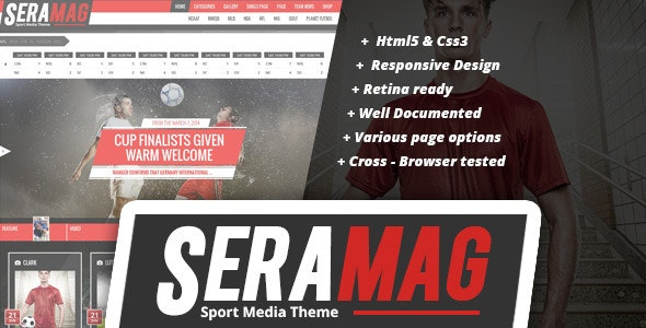Seramag professional sport HTML5 template - Miscellaneous Site Templates