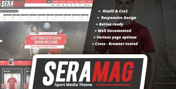 Seramag professional sport HTML5 template