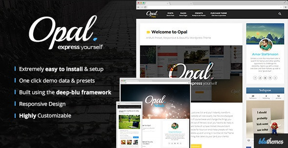 Opal | Multi Preset Responsive WordPress Theme - Personal Blog / Magazine