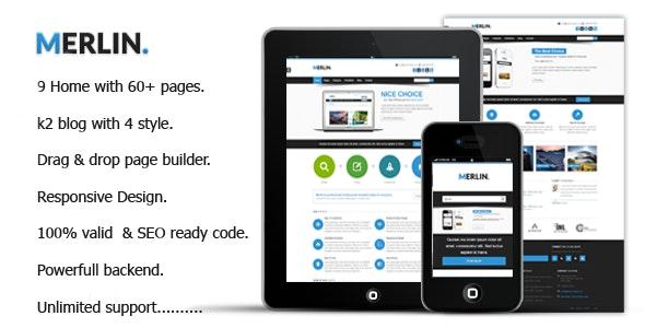 Merlin || Clean & Modern Multipurpose Templates  - Corporate Joomla