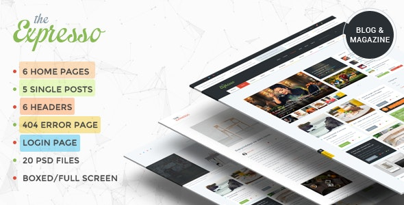Expresso - A Modern Magazine and Blog PSD Template - Creative PSD Templates