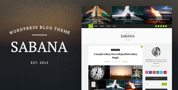 Sabana - Clean & Elegant WordPress Blog Theme - Personal Blog / Magazine