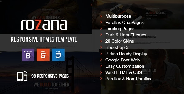 Rozana - Responsive Multipurpose & One Page Parallax - Corporate Site Templates