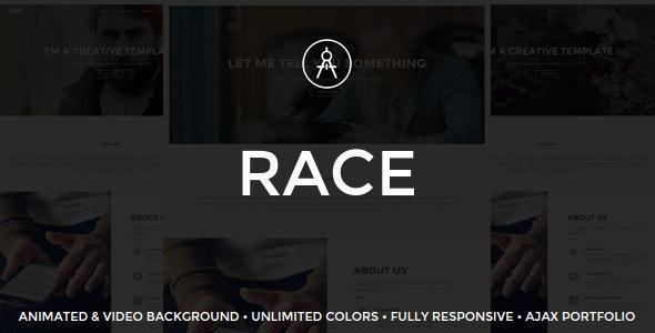 Race - Creative One Page WordPress Theme - Creative WordPress