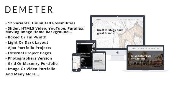 Demeter - Creative HTML5 Template - Creative Site Templates