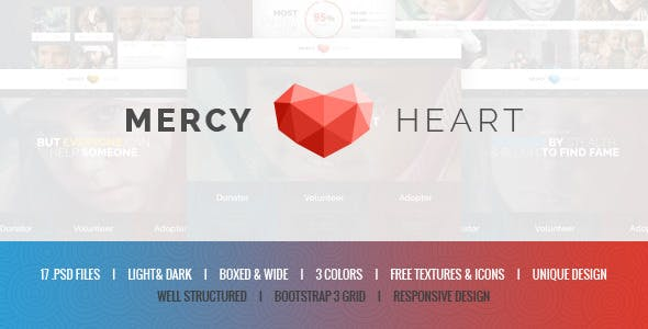 Mercy Heart - Charity PSD Template