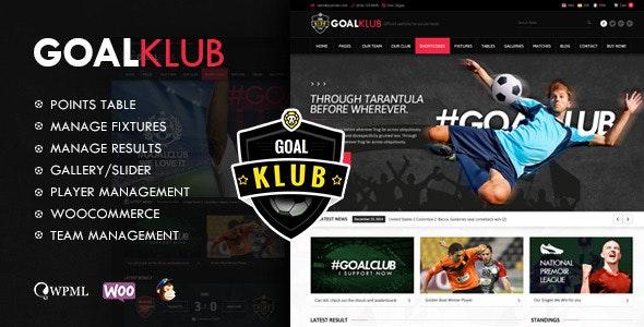 Goal Club | Sports & Events WordPress Theme - Nonprofit WordPress