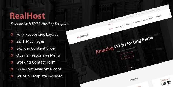 RealHost - Responsive HTML5 Hosting Template - Hosting Technology