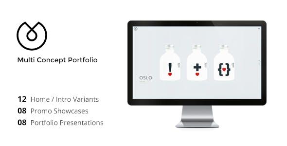 UBER - Minimal Multi-Concept Portfolio Template