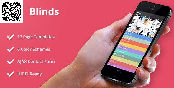 blinds   Mobile HTML/CSS Portfolio Template - Mobile Site Templates