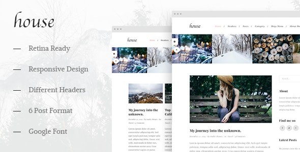 House - Personal Creative Blog Template - Personal Site Templates