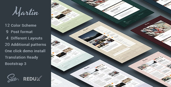 Martin – Powerful & Flexible WordPress Blog Theme - Personal Blog / Magazine