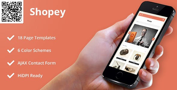 Shopey | Mobile HTML/CSS eCommerce Template