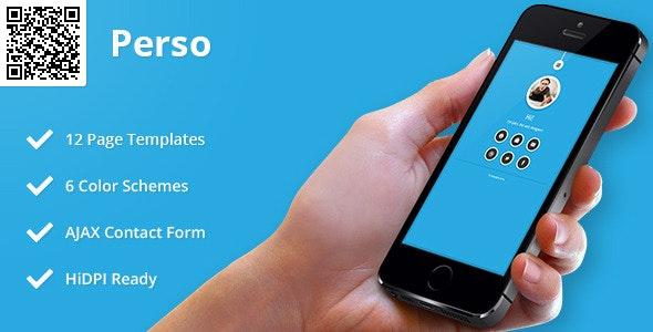 Perso | Mobile HTML/CSS Portfolio Template - Mobile Site Templates