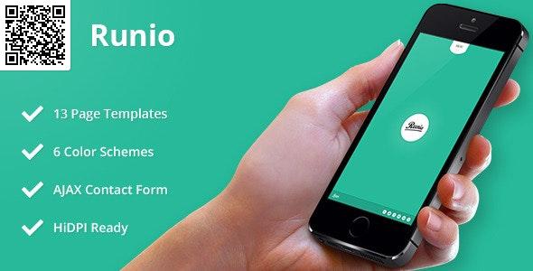 Runio   Mobile HTML/CSS Portfolio Template - Mobile Site Templates