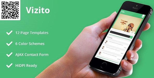 Vizito   Mobile HTML/CSS Portfolio Template - Mobile Site Templates