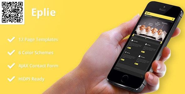 Eplie | Mobile HTML/CSS Portfolio Template - Mobile Site Templates