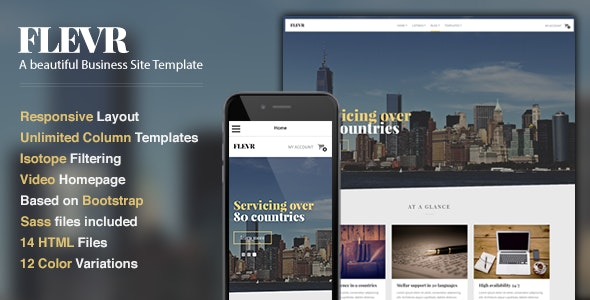 Flevr - Business Site Template - Business Corporate