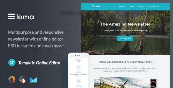 Eloma - Email Template + Themebuilder Access - Newsletters Email Templates
