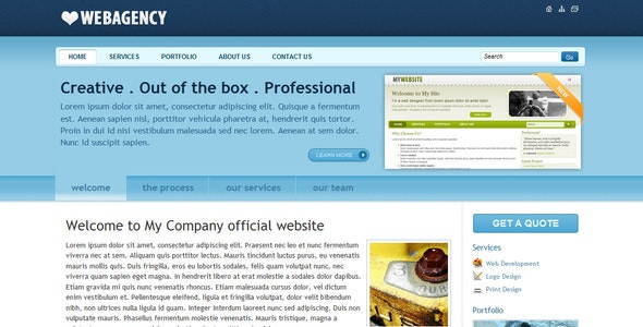 Corporate / Business Layout with Smooth Blue Color - Business Corporate