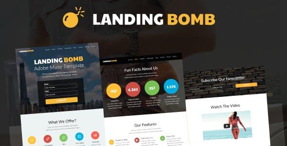 Landing Bomb - Landing Page For Adobe Muse