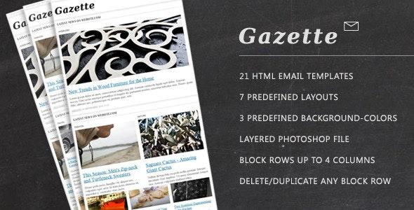 Gazette. Newsletter Template - Newsletters Email Templates
