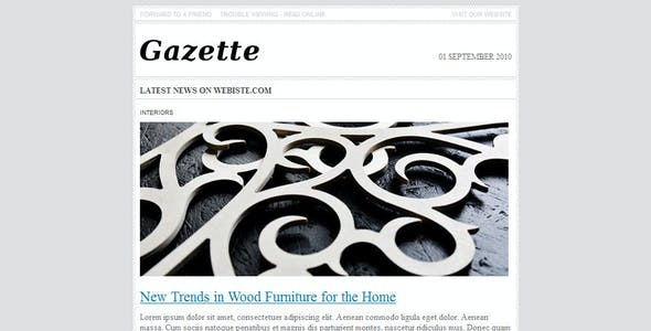 Gazette. Newsletter Template