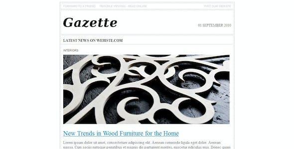 Gazette. Newsletter Template