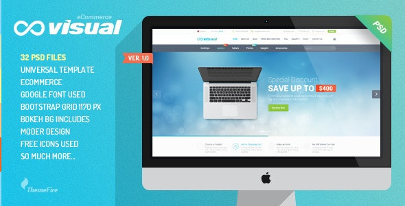 Visual - eCommerce PSD Template - Shopping Retail