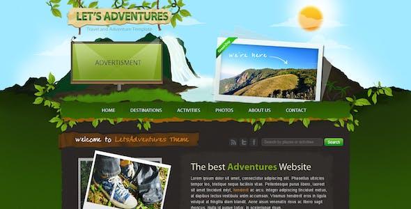 Let's Adventures - 4 Page Photoshop design