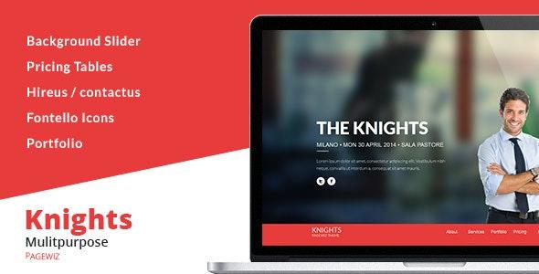 Knights Multipurpose Pagewiz Template - Pagewiz Marketing
