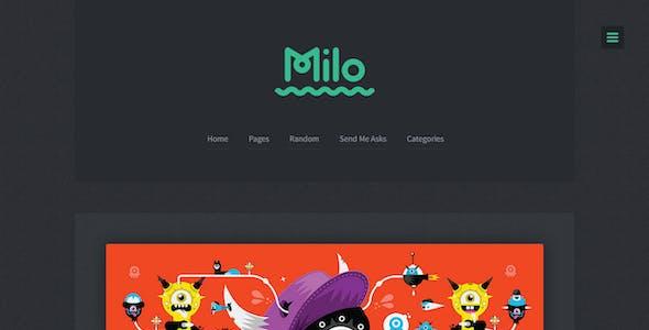 Milo - A Blogging Theme for Tumblr