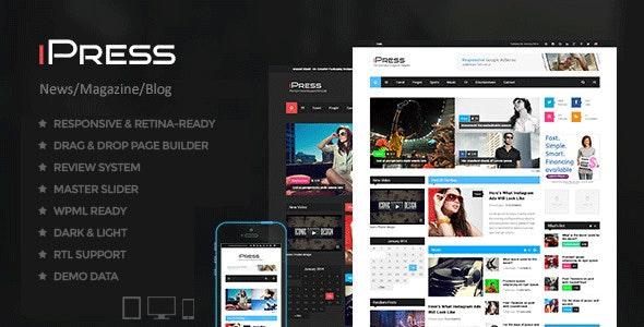 iPress - Blog/Magzine/News Wordpress Theme - News / Editorial Blog / Magazine
